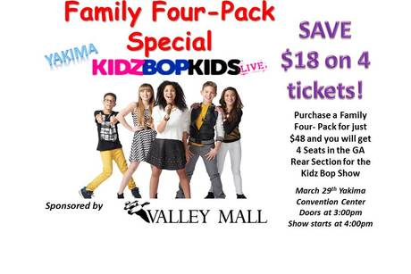 Kidz Bop Live - Yakima - Family Four-Pack