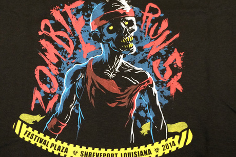 Large Zombie Run T-Shirt From Townsquare Media