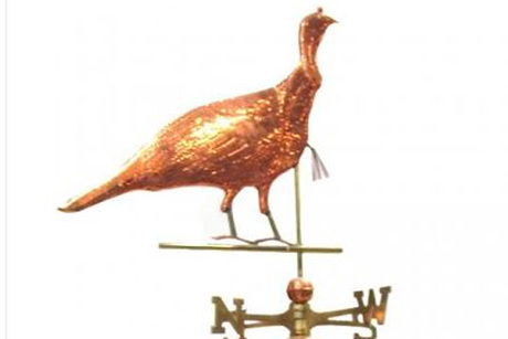 Polished Turkey Weathervane From Axmen