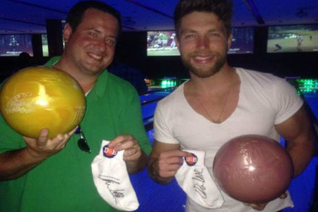 Autographed and Game-Worn Chris Lane Bowling Socks