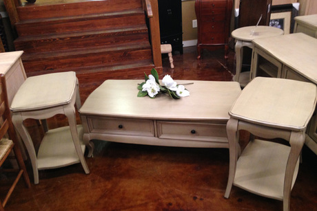 Coffee Table With Two Side Tables From Bare Wood Furniture