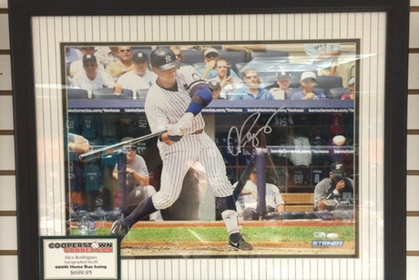 Autographed Alex Rodriguez 16x20 Framed Photo