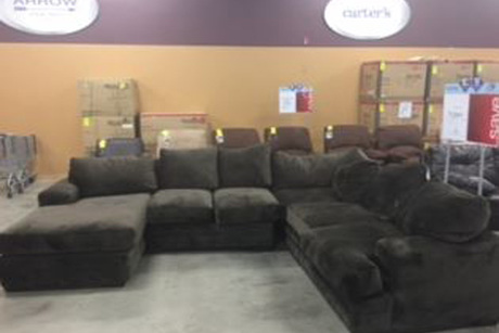 Three-Piece Sectional With Chaise Lounge From Sears Outlet