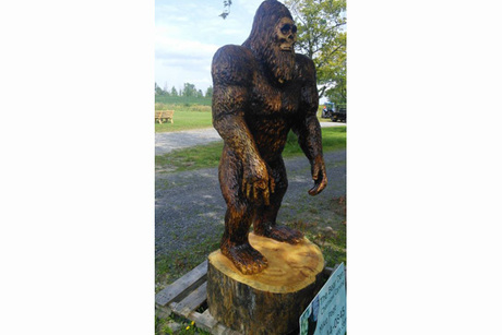 Seven-Foot Tall Big Foot Carving From The Bear Den Store