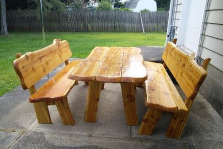 Six-Foot Adirondack Picnic Table From The Bear Den Store
