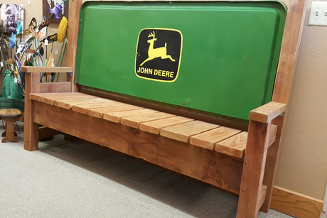 John Deere Wood Bench From WyoMade