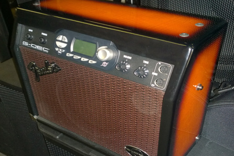 Fender Sunburst Wood Amp From Hart Music