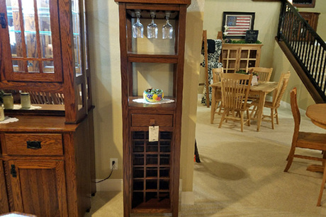 Certificate for an Oak Wine Cabinet From Oak Creek Amish Furniture